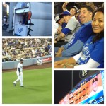 Series of photos from an LA Dodgers game